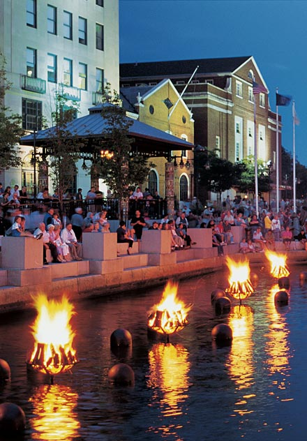 NERC is co-located with Waterfire, Providence's famous festival of the rivers.