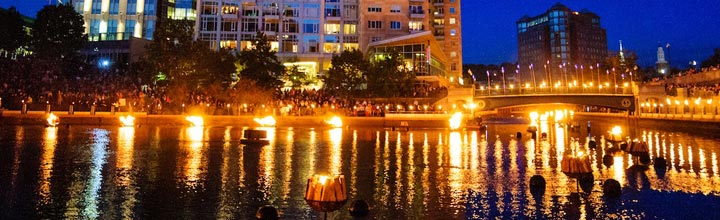 September 28th Full WaterFire Lighting
