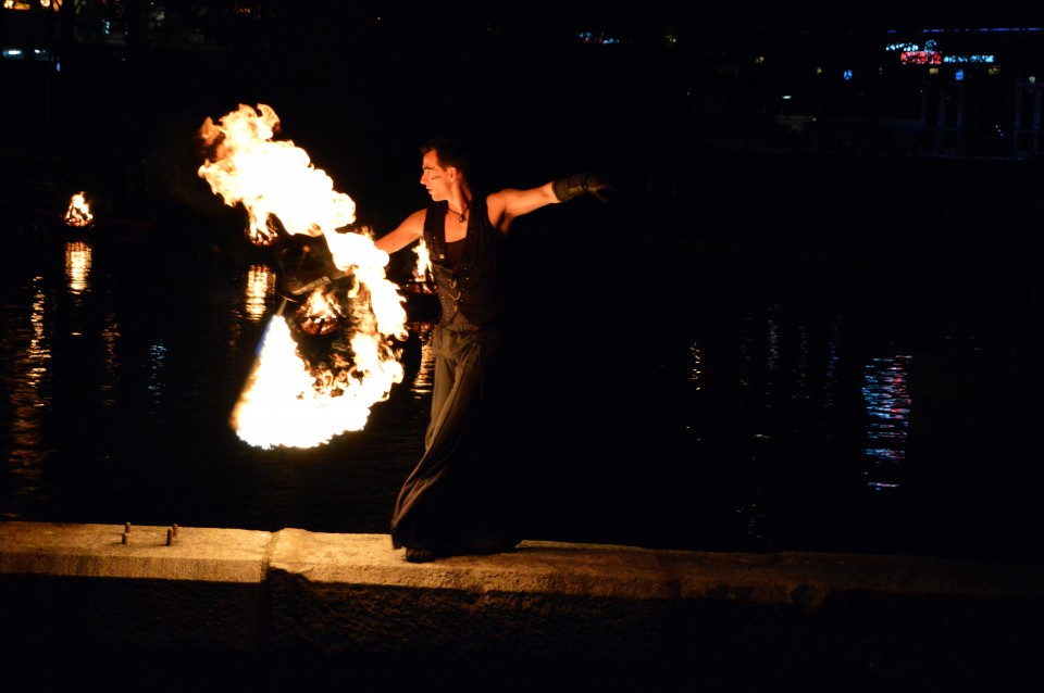 Fire dancer Benjamin Reynolds, photo by Jennifer Bedford.