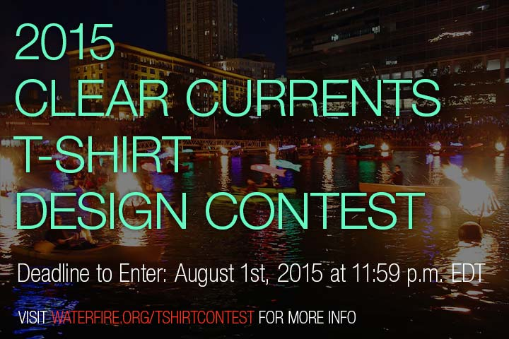 2015 Clear Currents T-shirt Design Content. Deadline to enter is August 1st, 2015