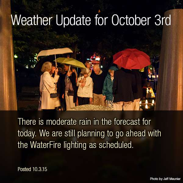 October 3rd 2015 - Weather Update
