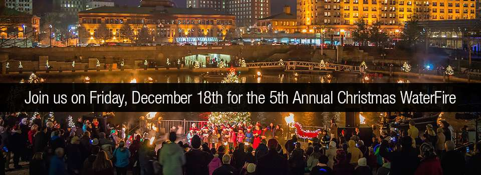 Join us for the 5th Annual Christmas WaterFire on Friday, December 18th, 2015