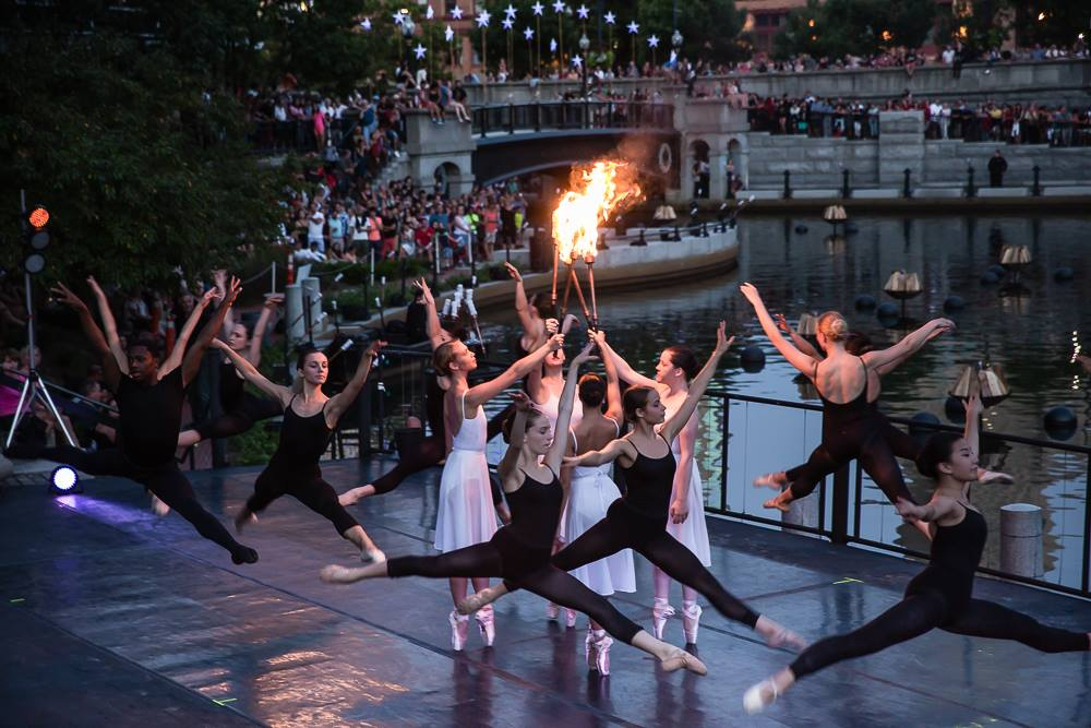 Festival Ballet Providence on stage in Waterplace Park. Photography by James Turner.
