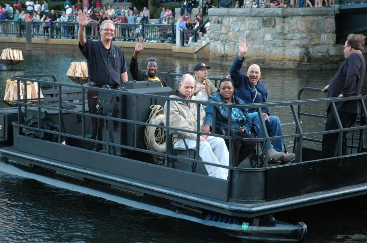The WaterFire Providence Access Boat