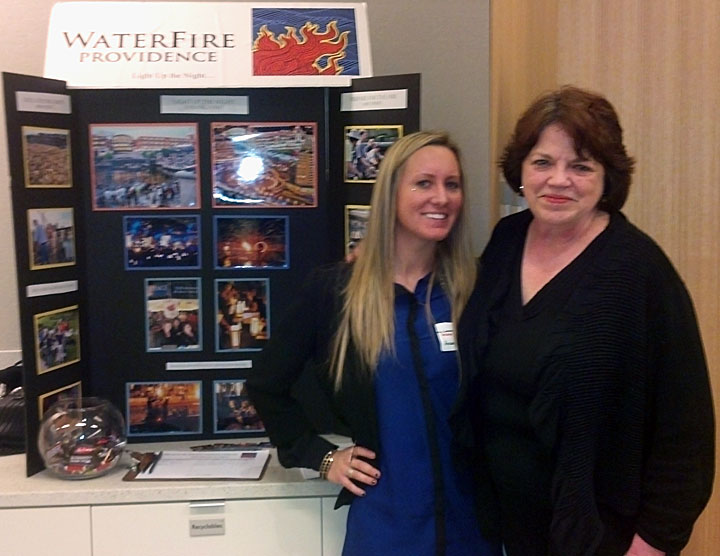 Andrea Ritter and Sheryl Mason at the 2013 Fidelity Cares event.