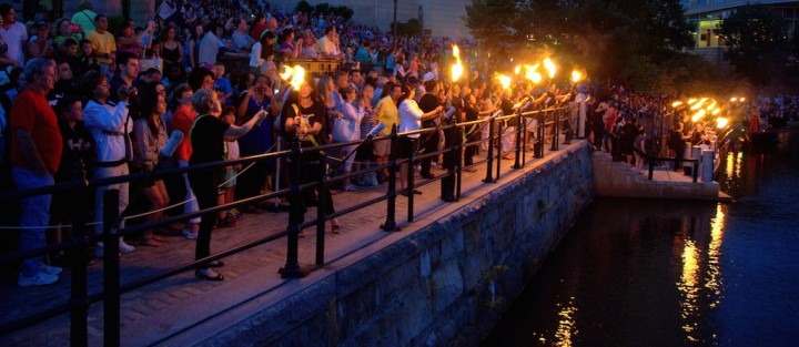 Torch procession, photo by John Nickerson.