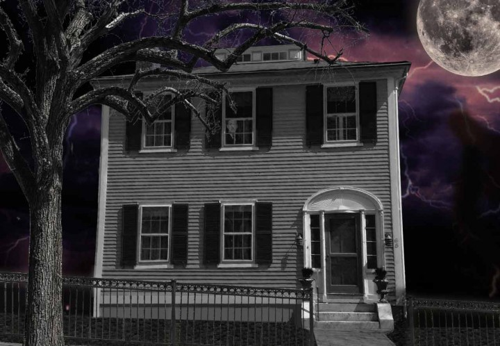 The Samuel B. Mumford House, spooky version.