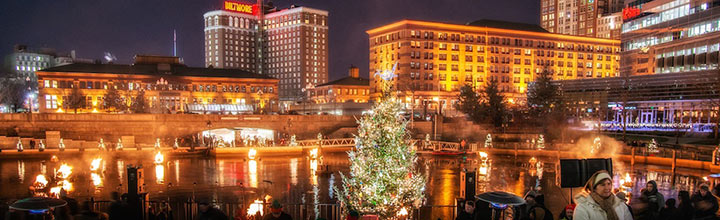 A Very Special Christmas WaterFire. Photo by David Amadio.