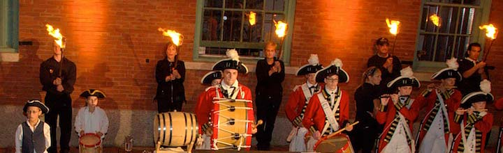 Fife and drum at WaterFire. Photo by John Nickerson.