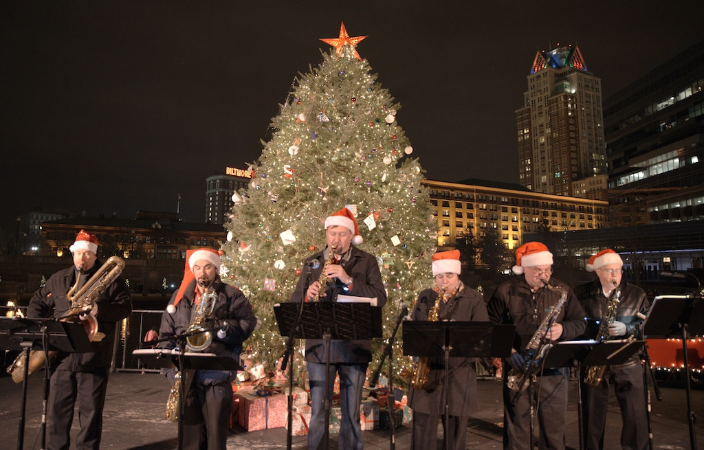 The Sultans of Sax - Christmas WaterFire 2014