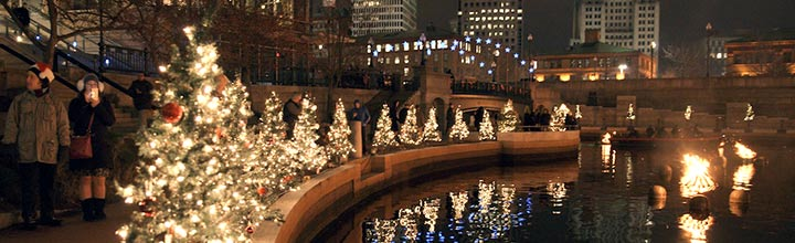 Christmas WaterFire, photo by John Nickerson.