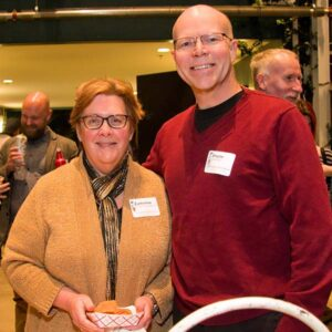 Catherine and Wayne at the 2015/2016 Volunteer Appreciation Party. Photo by Drew Christhilf.