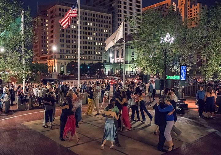 Argentine Tango at WaterFire, photo by Elaine Frederick.