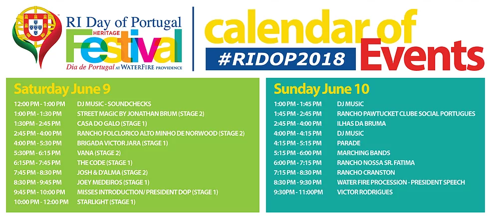 Day of Portugal Schedule