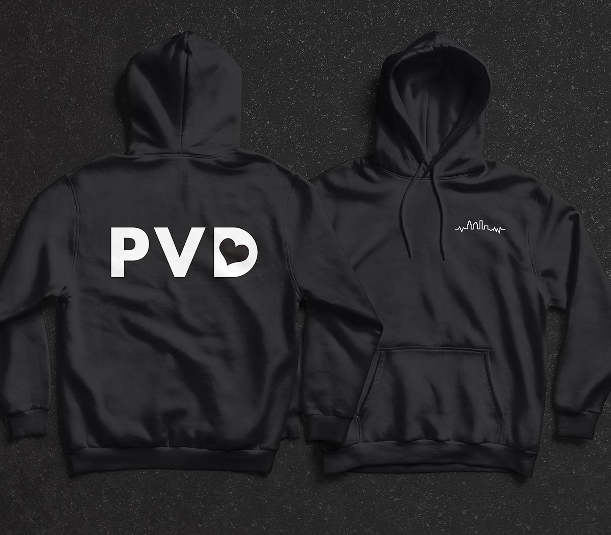 PVDLUV Pulse Hoodie (back and front)