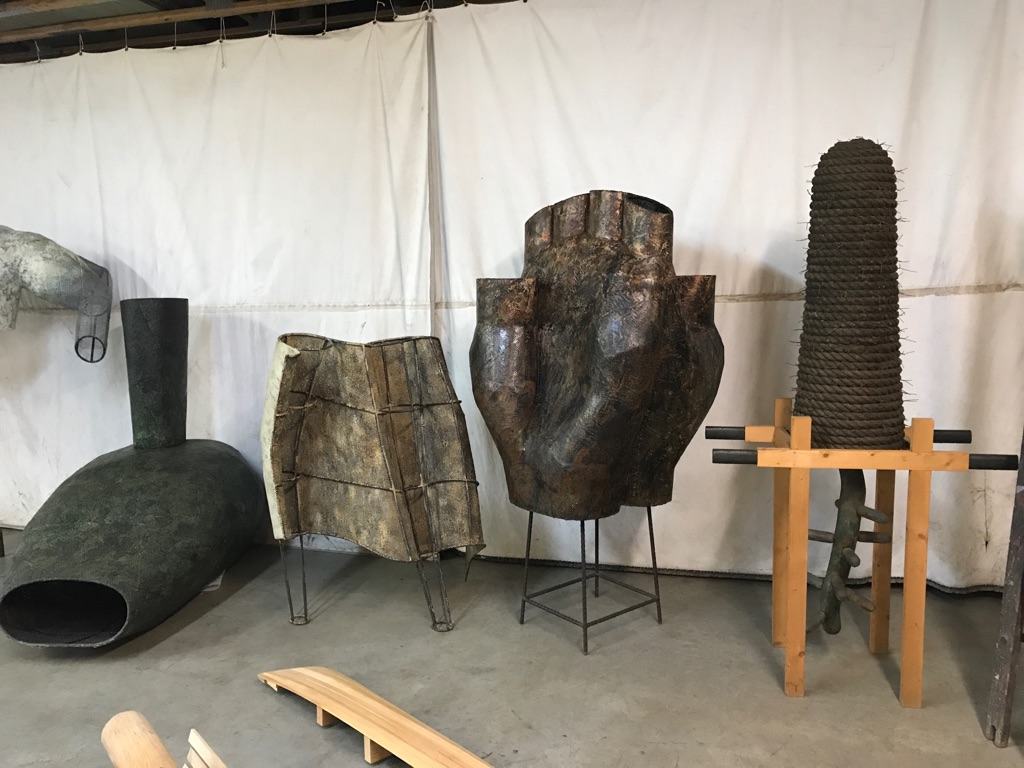 Works by Robert Rohm in his studio. Photograph by Barnaby Evans